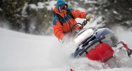 Stock Picture os Snowmobiler